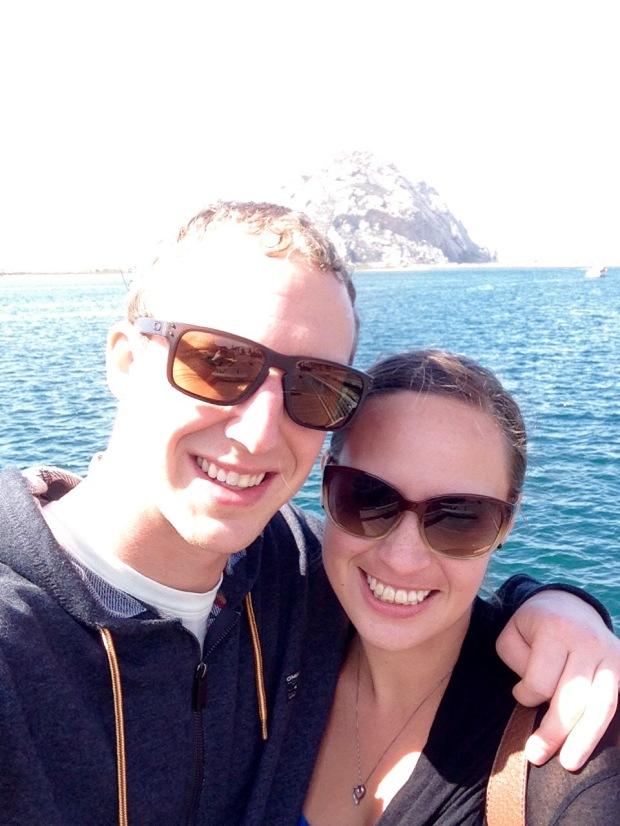 Callie and I at Morro Bay