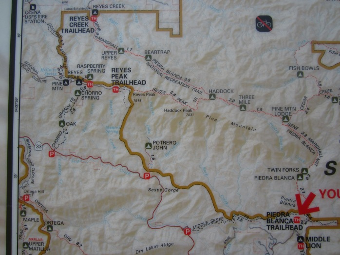 Map of Piedra Blanca Trail