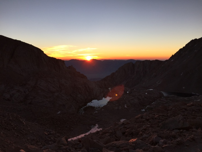 Sunrise from the 99 switchbacks.